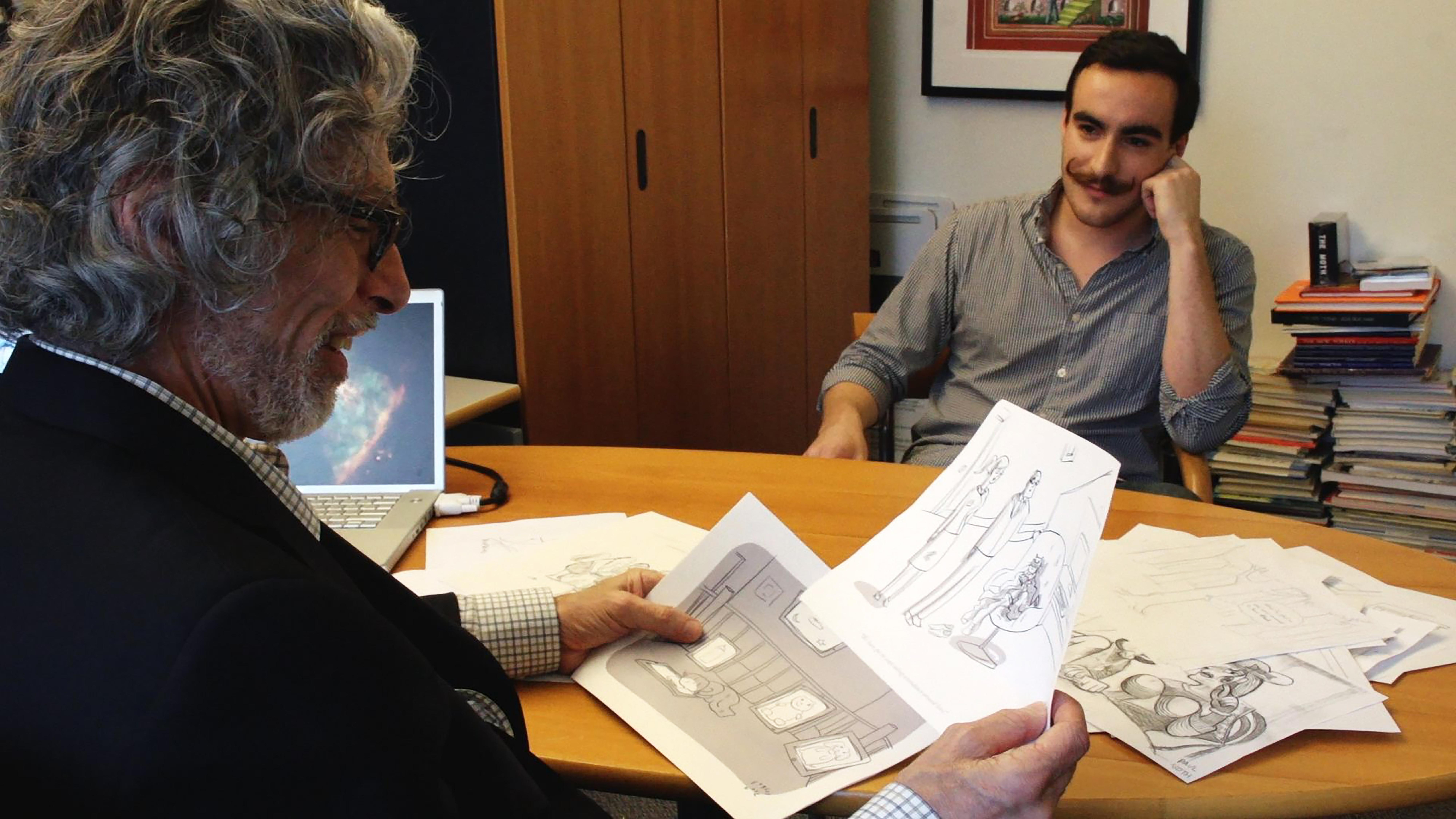 New Yorker cartoon editor Bob Mankoff and cartoonist Farley Katz