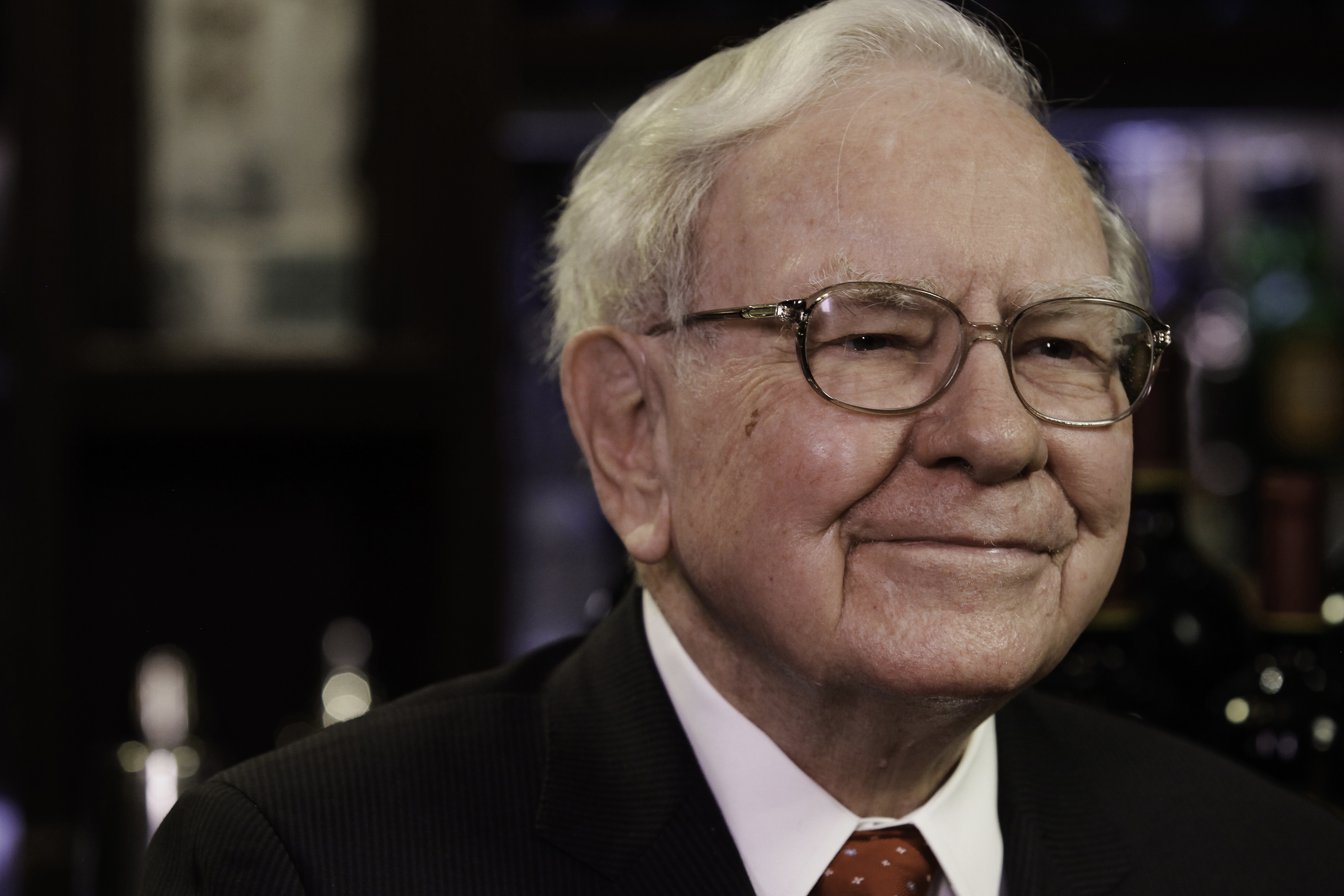 Warren Buffett, chairman and chief executive officer of Berkshire Hathaway Inc., during an interview in New York City on Sept. 8, 2015.