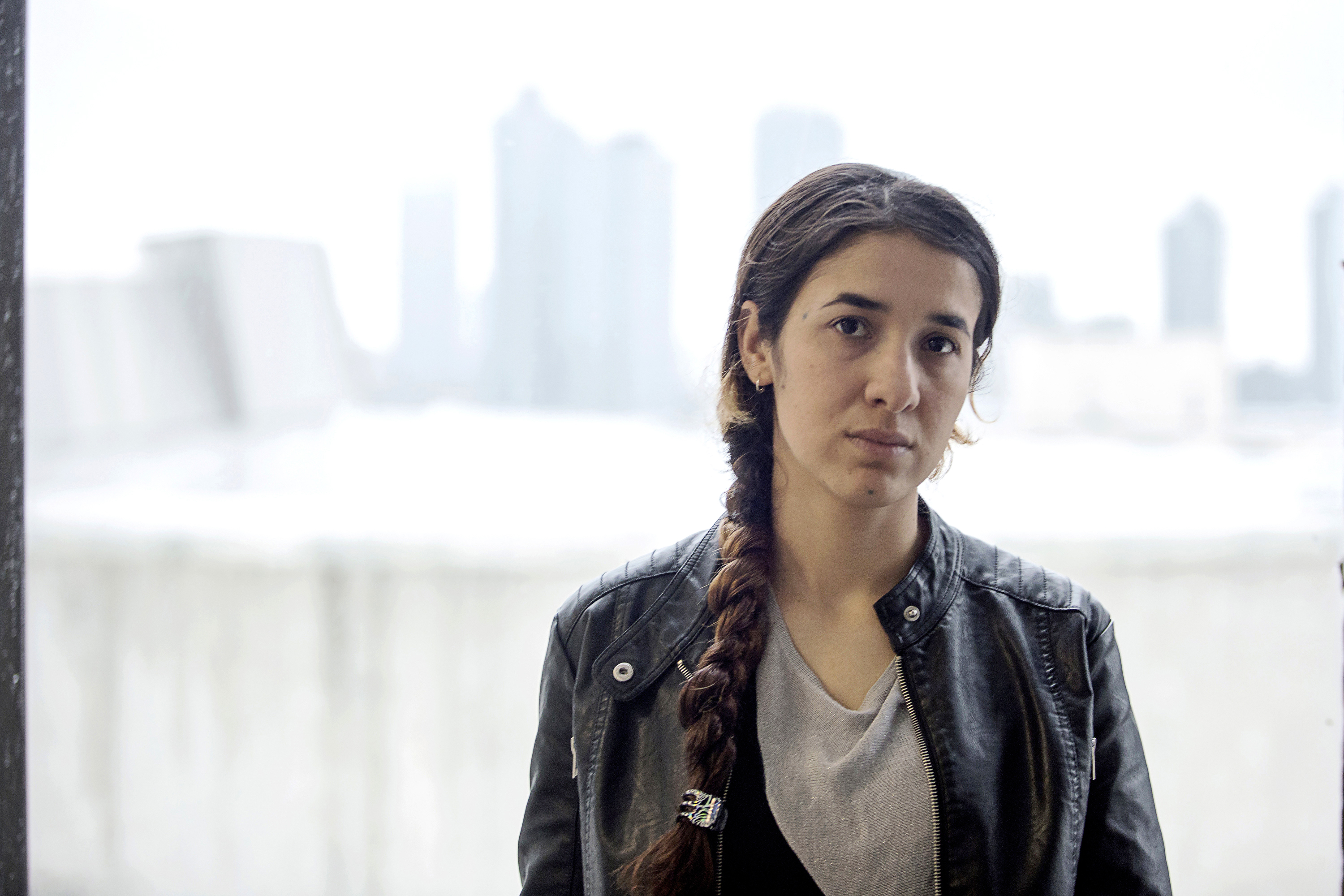 Nadia, a young Iraqi Yezidi who was abducted into slavery by members of ISIS, is photographed in the U.S.