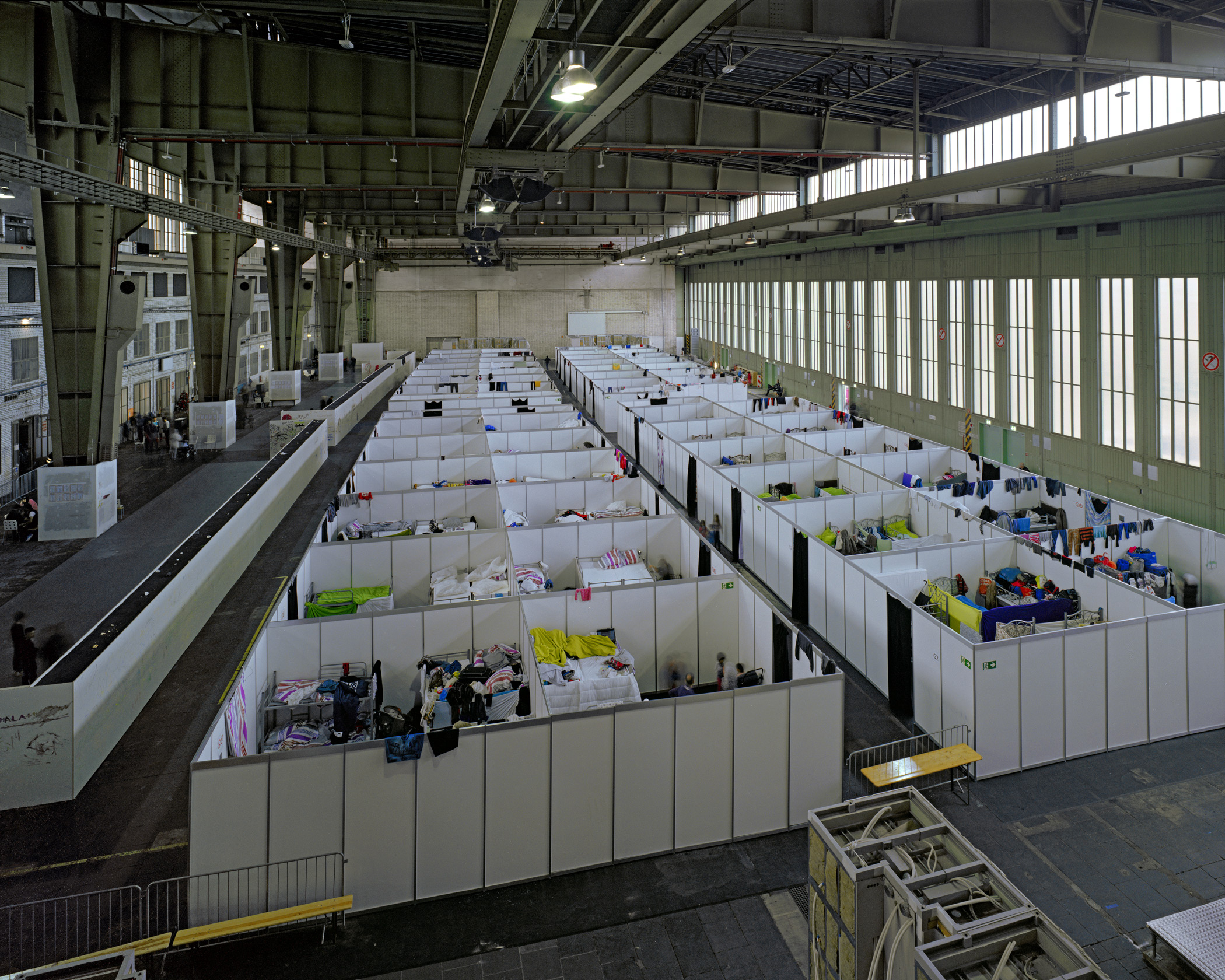 Used by the Nazis and once one of the world's largest buildings, today Berlin's Tempelhof airport is being used as a major shelter for asylum seekers.From  Person of the Year.  December 21, 2015 issue.