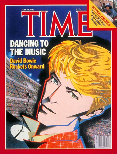 David Bowie on the cover of TIME,  July 18, 1983