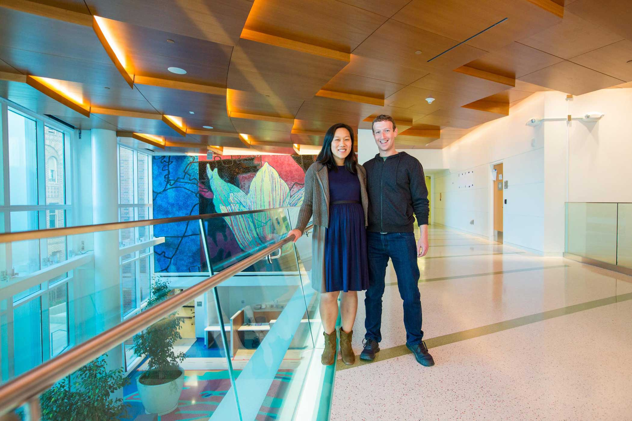 November 7, 2015 With Priscilla Chan at Zuckerberg San Francisco General.