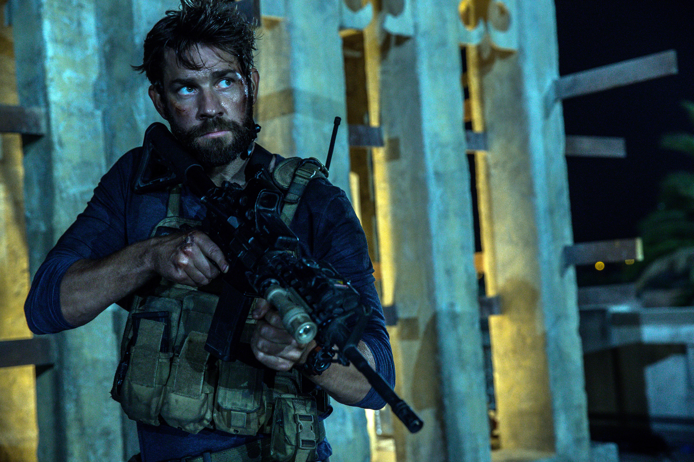 John Krasinski as Jack Silva in 13 Hours: The Secret Soldiers of Benghazi.