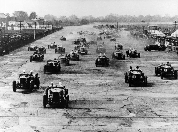 Motor race, Brooklands, Surrey, 1920s.