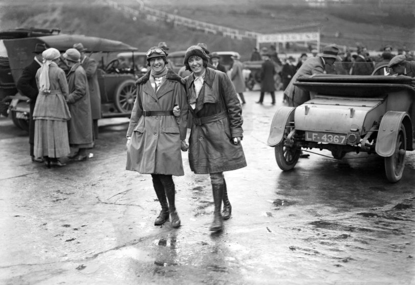 Brooklands racetrack, England 1920s