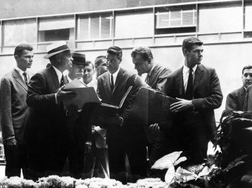Agent John Harkrider recruits male models in 1961