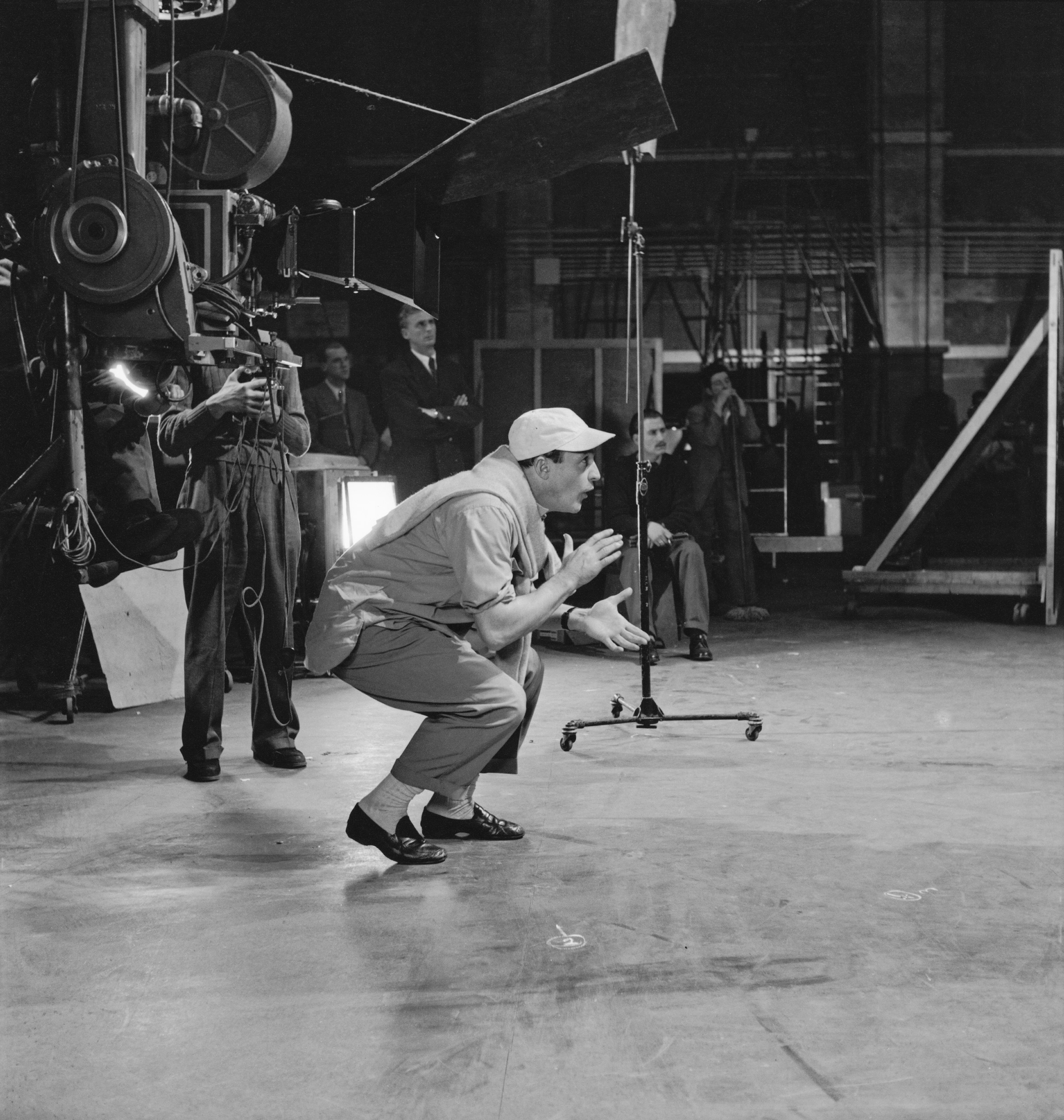 Gene Kelly on the set of the film 'Invitation to the Dance', 1954.