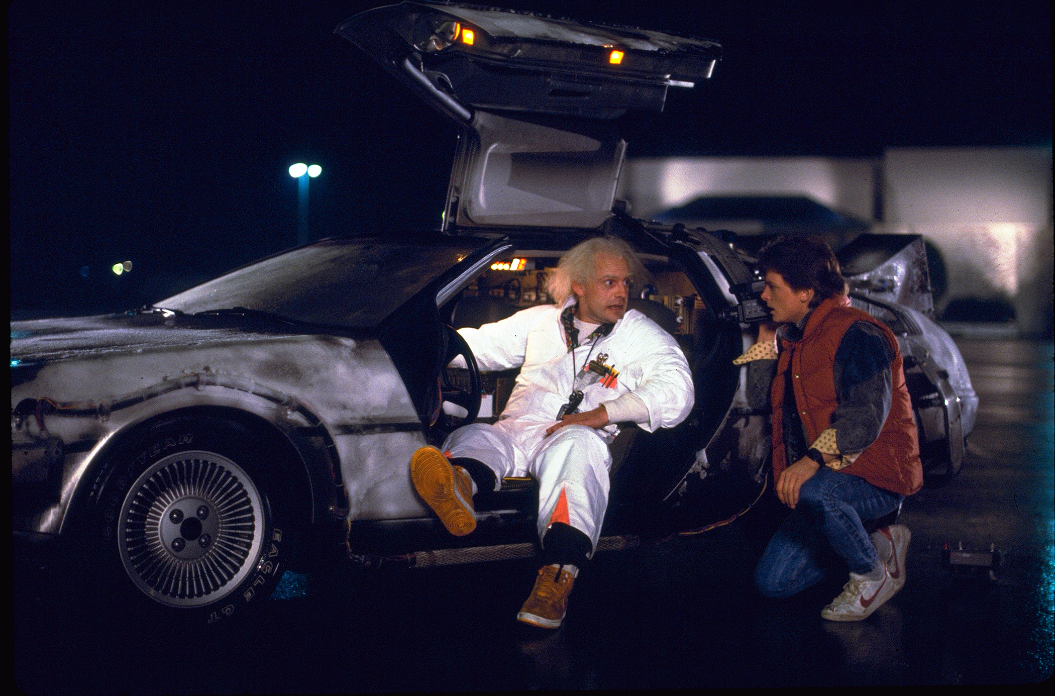 Christopher Lloyd & Michael J. Fox in Back to the Future (1985)