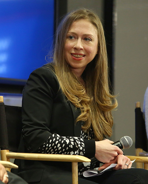 Vice Chair of the Clinton Foundation, Chelsea Clinton, speaks during 'What Works for Women Leaders in Technology' Hosted By SELF Magazine And The Clinton Foundation at Conde Nast on October 29, 2015 in New York City.  Astrid Stawiarz—Getty Images
