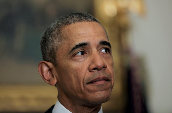 U.S. President Barack Obama delivers a statement on the relations between US and Iran, including the release of the US hostages that were held in Iran, in the cabinet room of the White House on January 17, 2016 in Washington, DC. Pool—Getty Images