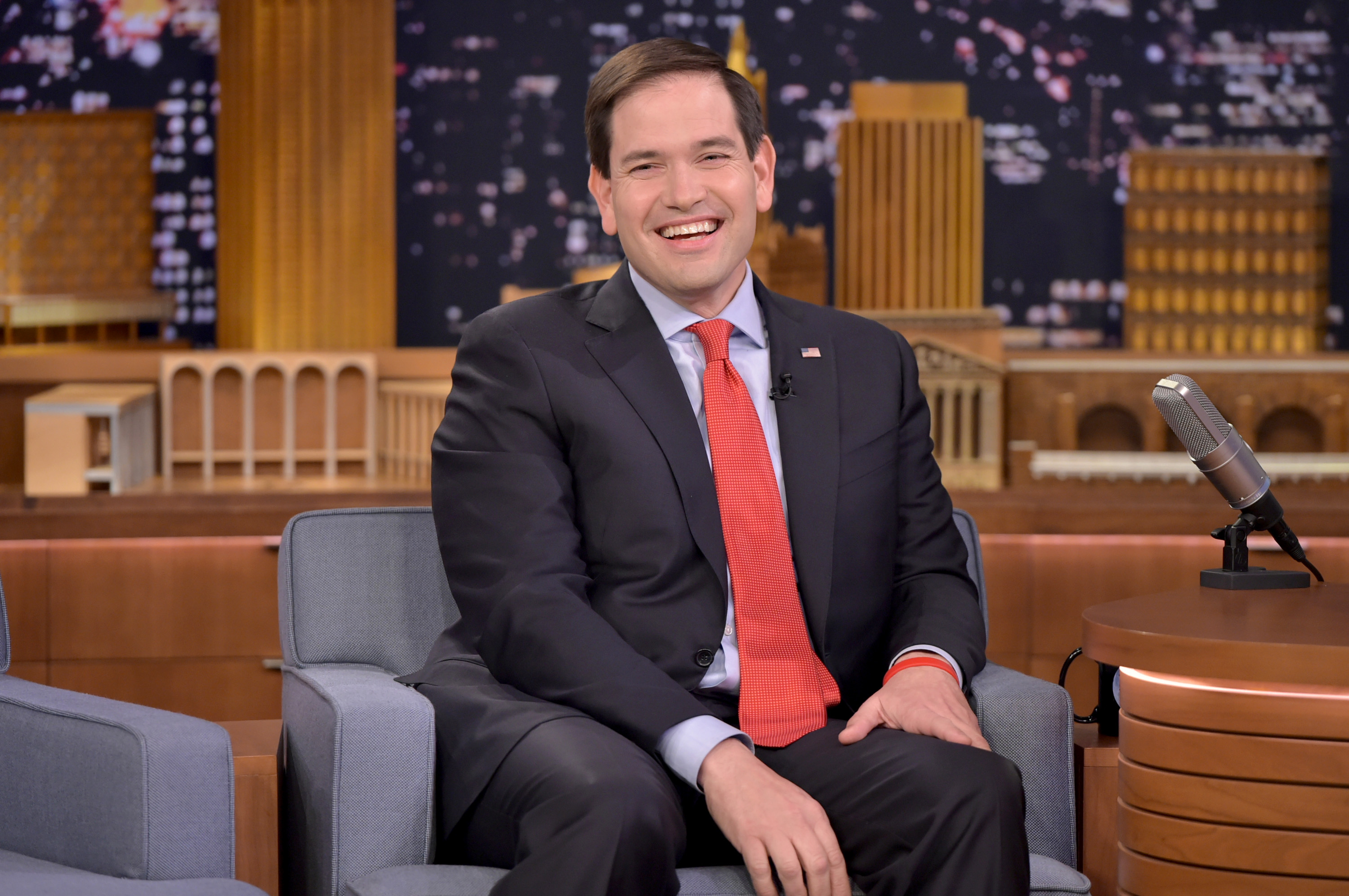 Senator Marco Rubio on The Tonight Show starring Jimmy Fallon on January 21, 2016