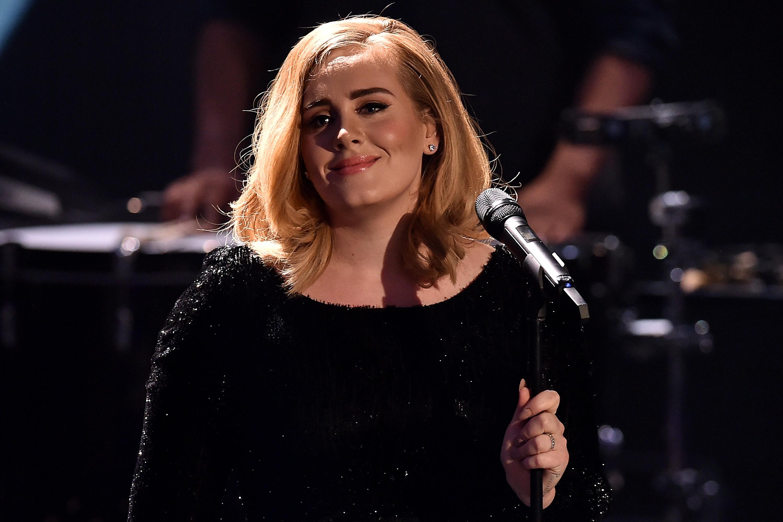 Adele attends the television show 2015! Menschen, Bilder, Emotionen - RTL Jahresrueckblick on December 6, 2015 in Cologne, Germany