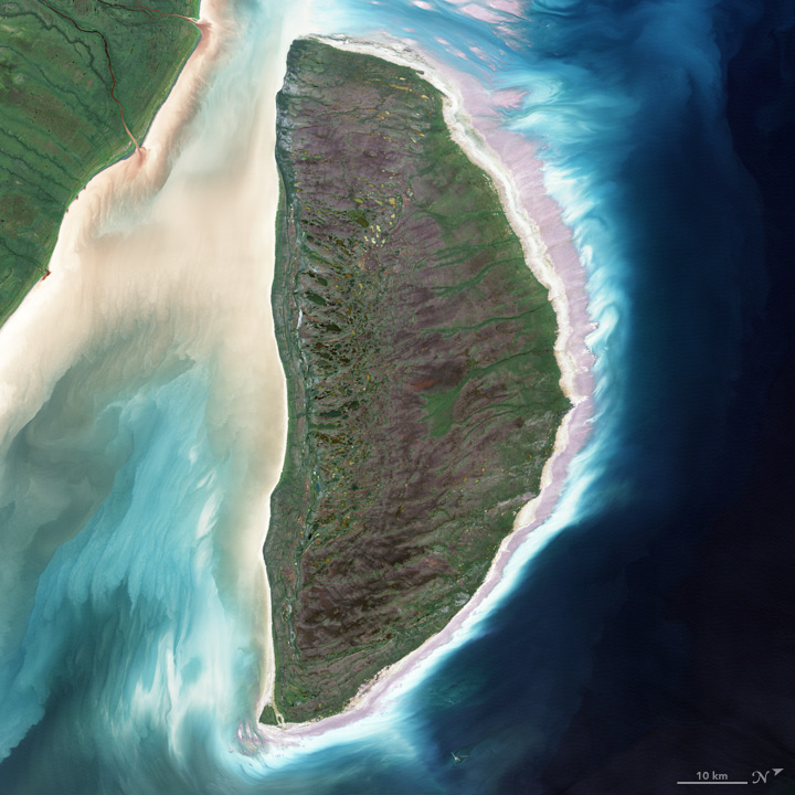 D: The Enhanced Thematic Mapper on Landsat 7 acquired this image of Akimiski Island in James Bay on Aug. 9, 2000.