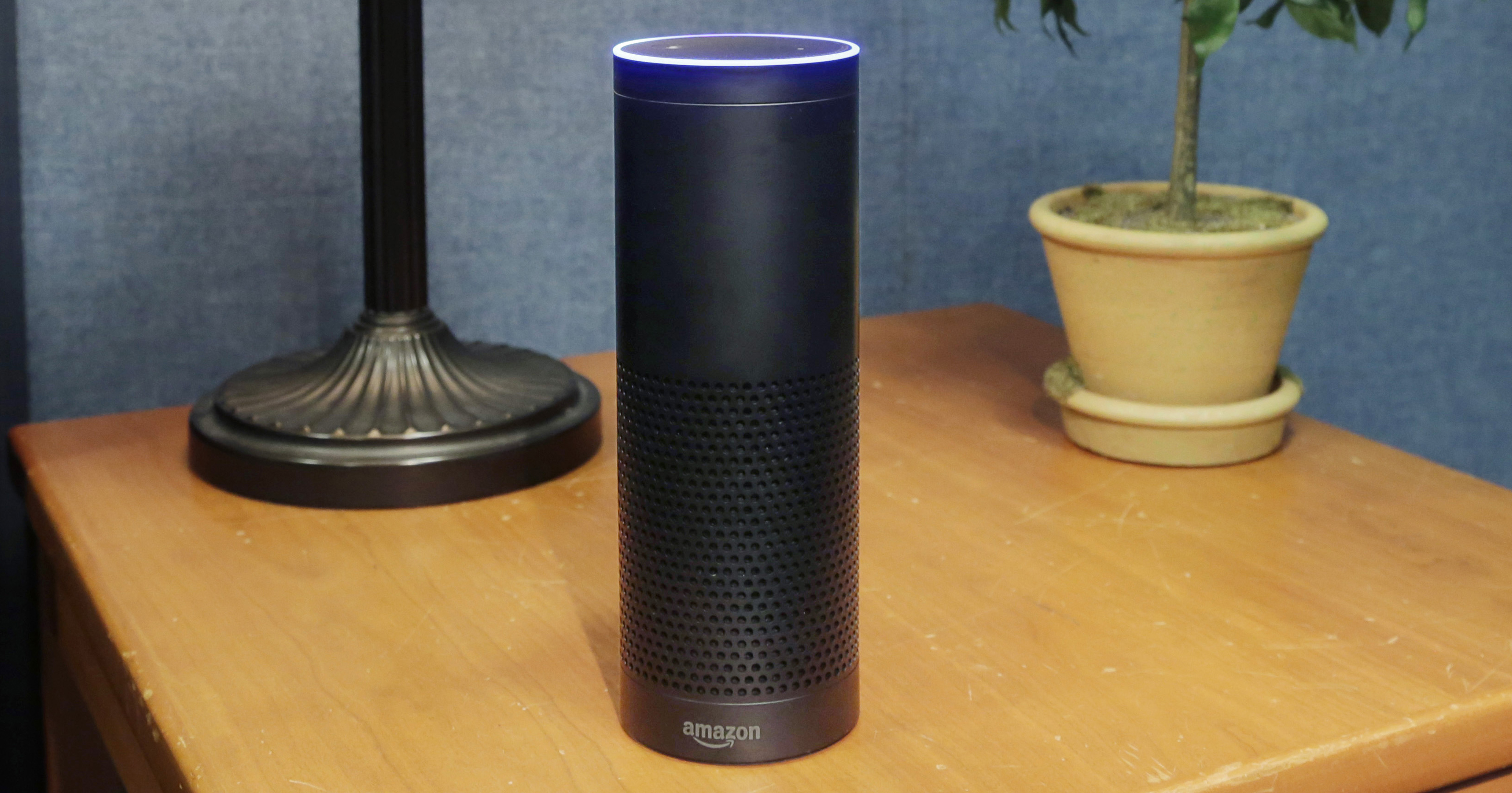 Amazon's Echo is seen on July 29, 2015 in New York City.