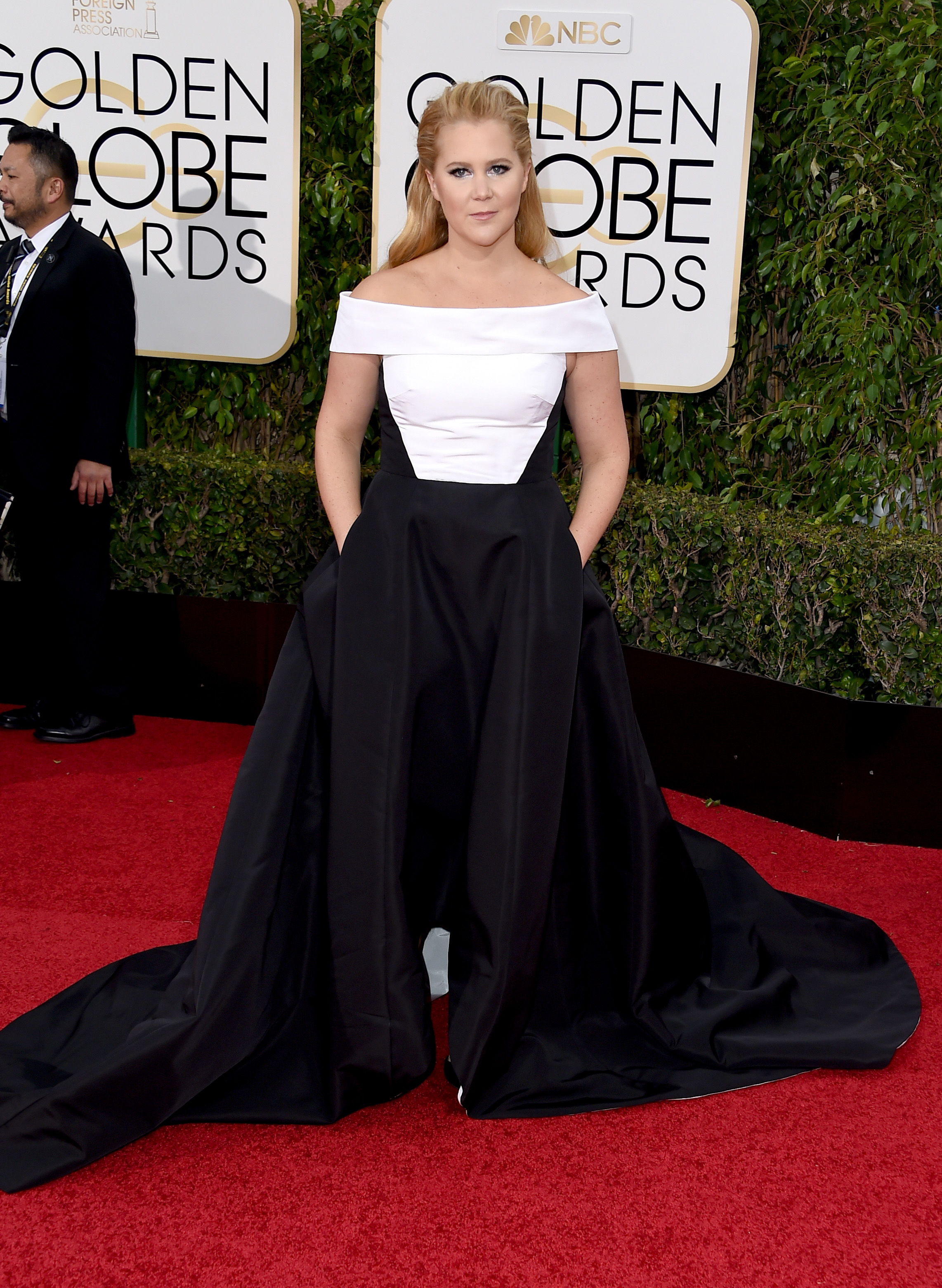 Amy Schumer arrives to the 73rd Annual Golden Globe Awards on Jan. 10, 2016 in Beverly Hills.