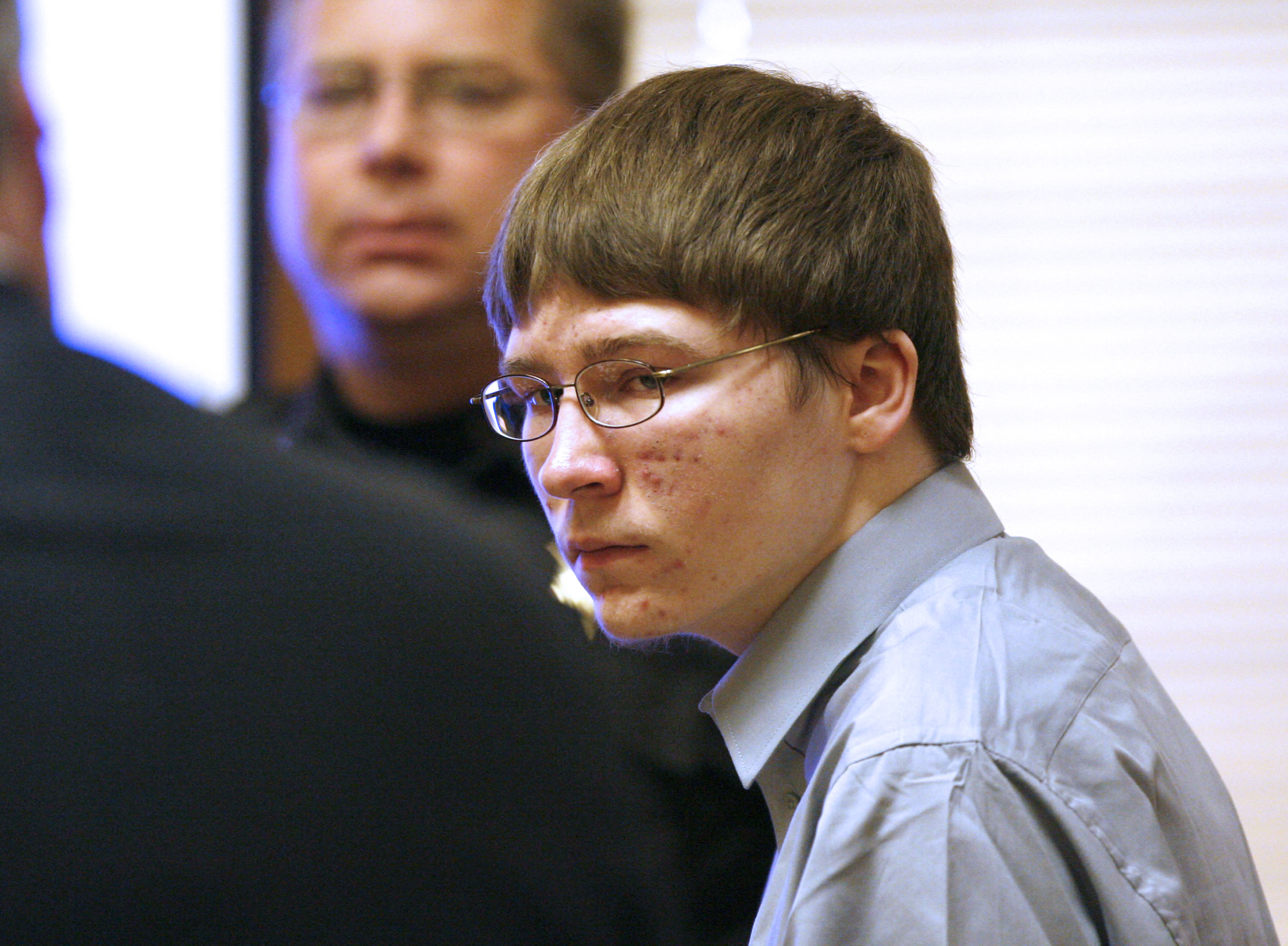 Brendan Dassey appears in court April 16, 2007, at the Manitowoc County Courthouse in Manitowoc, Wis.
