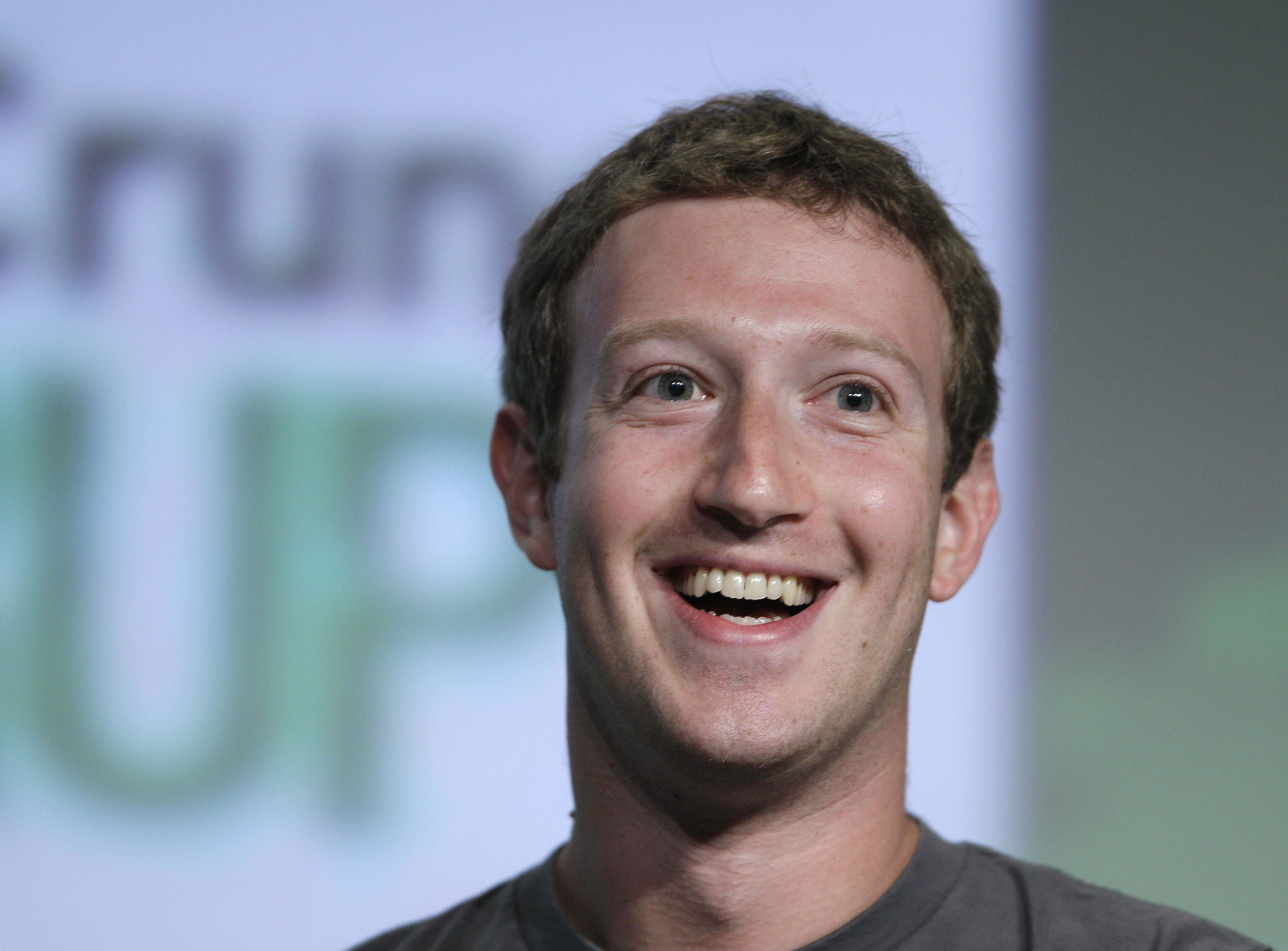 Facebook CEO Mark Zuckerberg speaks during a  fireside chat  at a conference organized by technology blog TechCrunch in San Francisco, Sept. 11, 2012