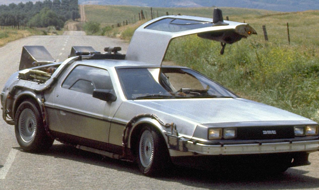 A DeLorean from Back to the Future
