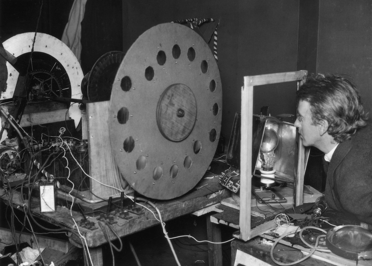 The original television model, invented by the Scottish television pioneer John Logie Baird, (1888 - 1946).