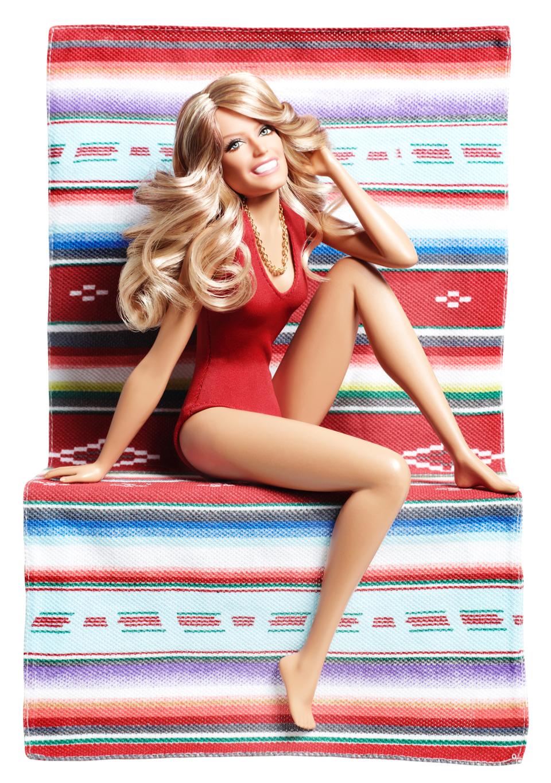 The Farrah Fawcett Barbie, released in 2011.