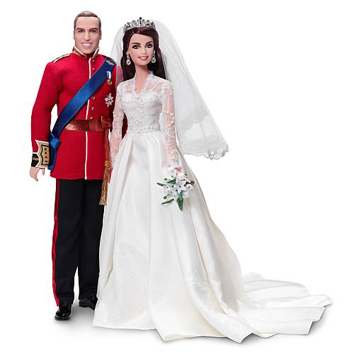 Prince William and Kate Middleton Barbies, released in 2012.