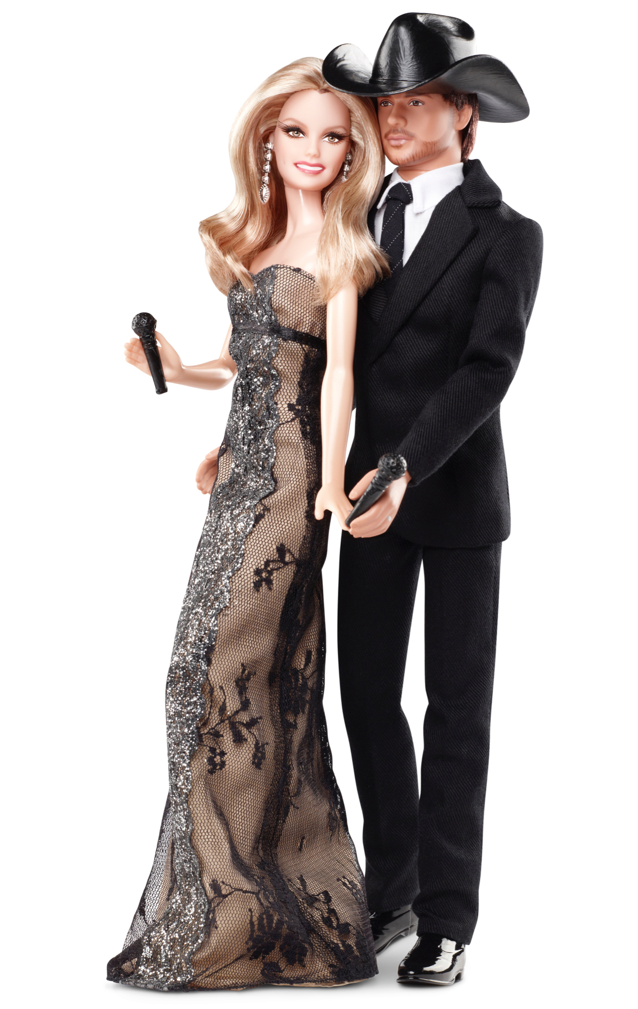 Faith Hill and Tim McGraw Barbies, released in 2011.