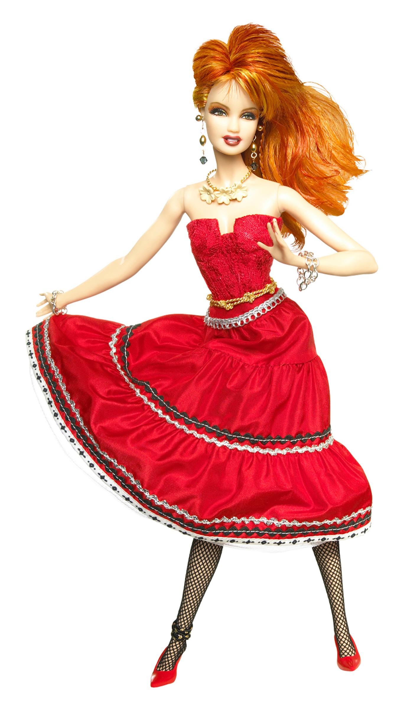 The Cyndi Lauper Barbie, released in 2010.