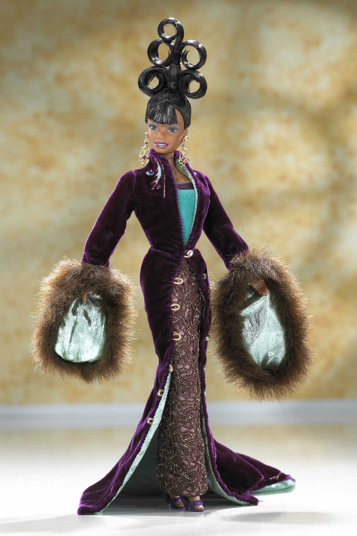 The Byron Lars Plum Royale Barbie Doll, released in 1999.
