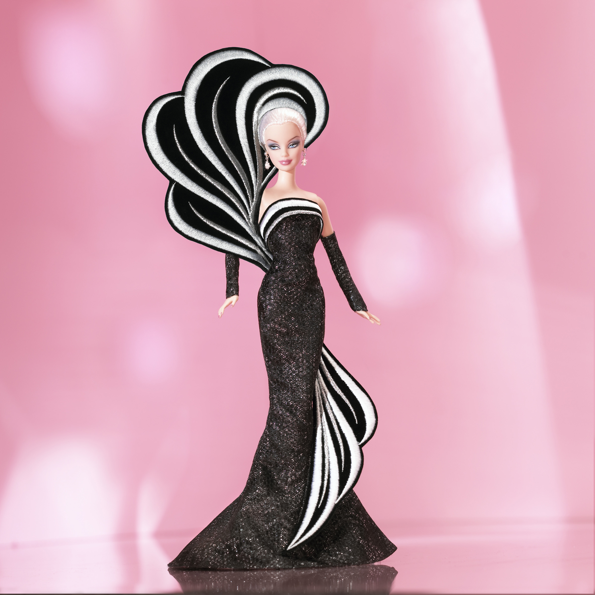 The 45th Anniversary Barbie Doll by Bob Mackie, released in  2004.