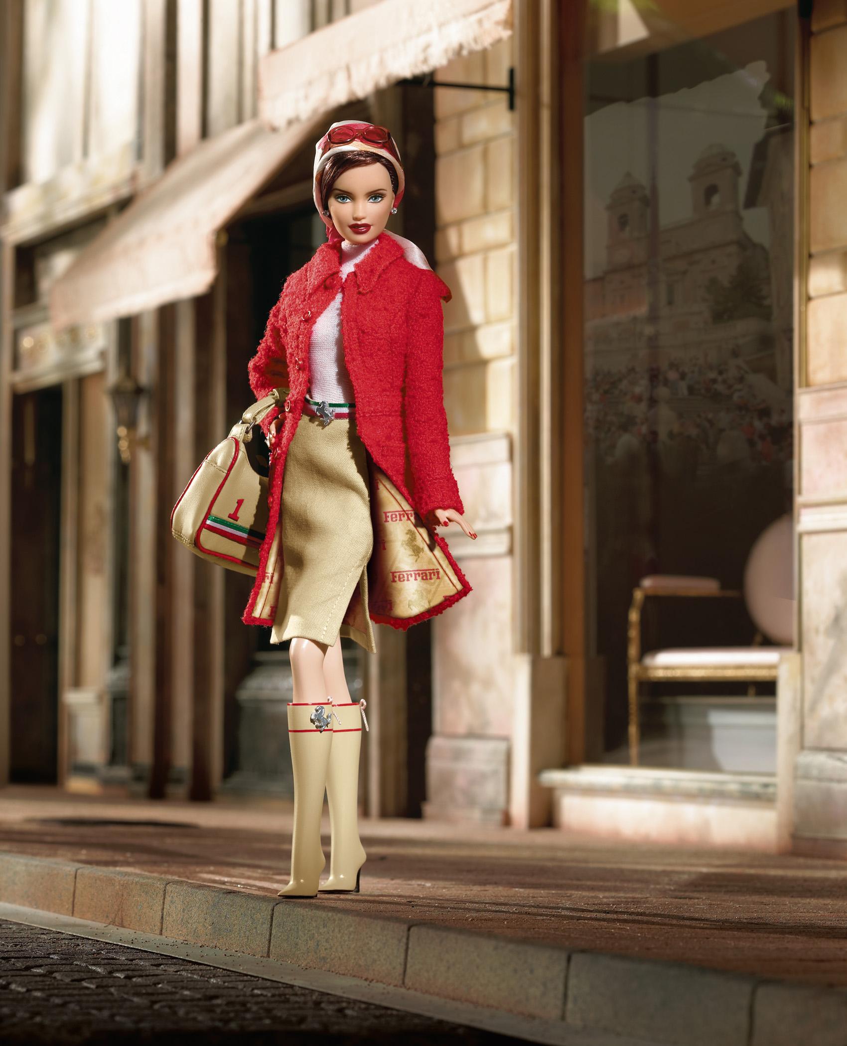 The Ferrari Barbie Doll, released in 2005.