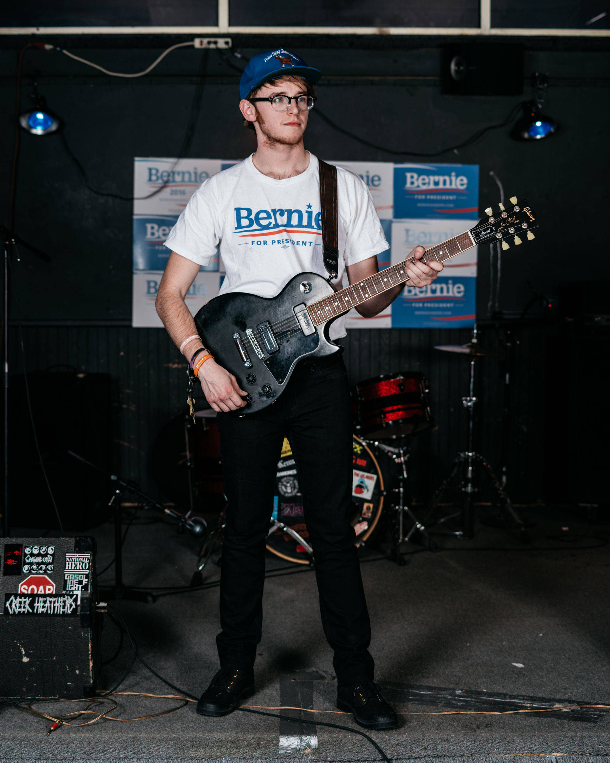 John Fisher, 22, Bernie Sanders                               There's a fire under our ass. Everyone is tired of politics as usual. Everyone is frustrated with income inequality, besides those that are at the top. We were told since we were in kindergarten that we could do anything. I don't think that's true.