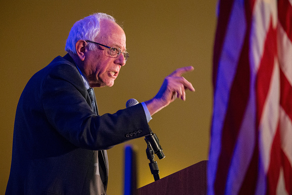 Democratic presidential hopeful Sen. Bernie Sanders (I-VT) speaks at the  First in the South  Dinner on January 16, 2016 in Charleston, South Carolina. Sanders is in town campaigning before tomorrow night's democratic presidential debate.