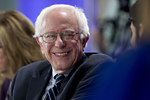 Senator Bernie Sanders, an independent from Vermont and 2016 Democratic presidential candidate, smiles during a Bloomberg Politics interview in Des Moines, Iowa, U.S., on Thursday, Jan. 28, 2016.