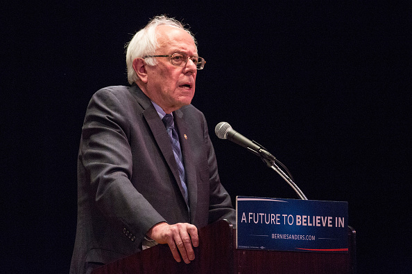 Democratic presidential candidate Sen. Bernie Sanders (I-VT) outlines his plan to reform the U.S. financial sector on January 5, 2016 in New York City.