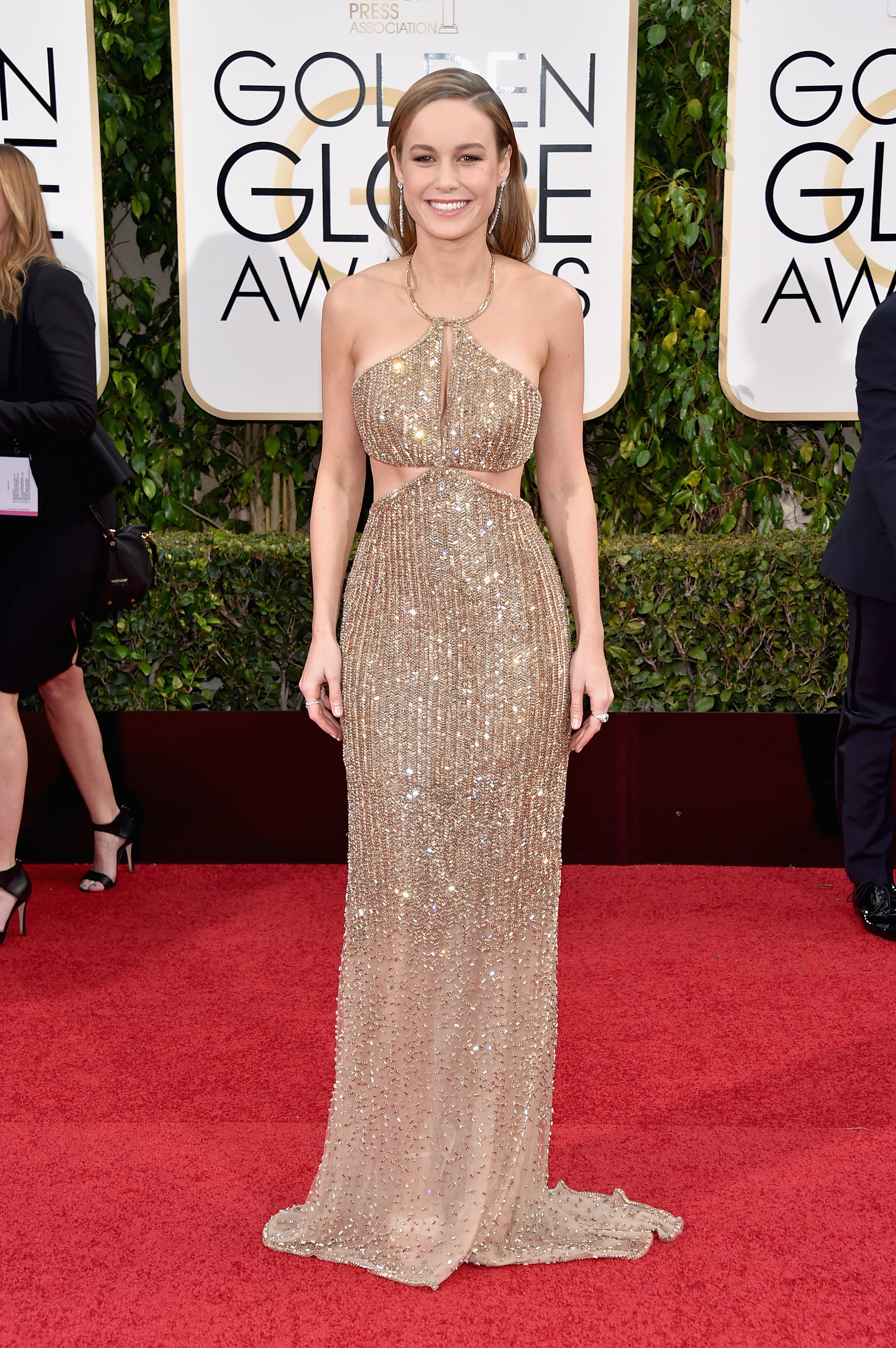 Brie Larson arrives to the 73rd Annual Golden Globe Awards on Jan. 10, 2016 in Beverly Hills.