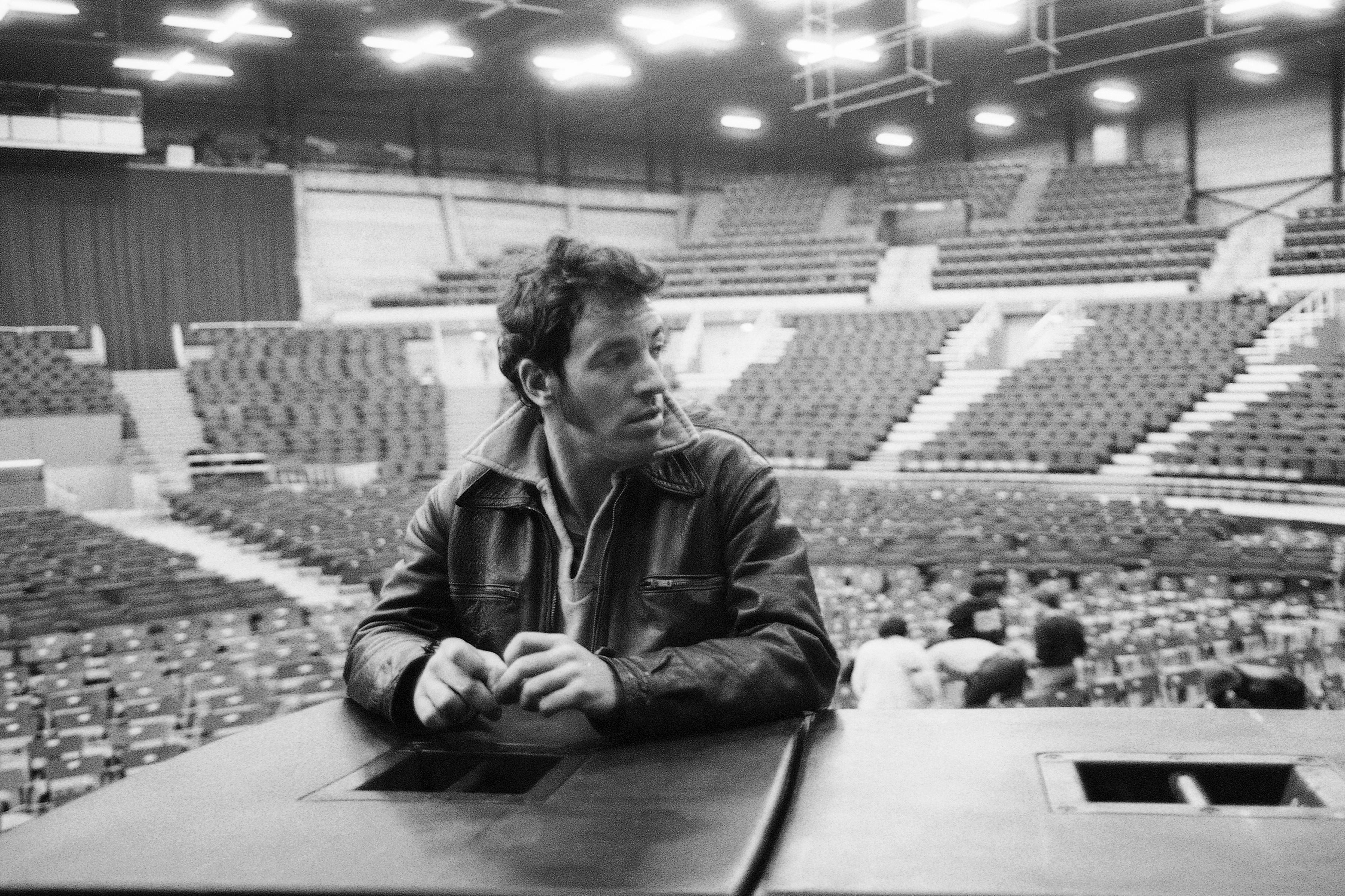 Bruce Springsteen before soundcheck in                               Brussels, Belgium on April 26, 1981.