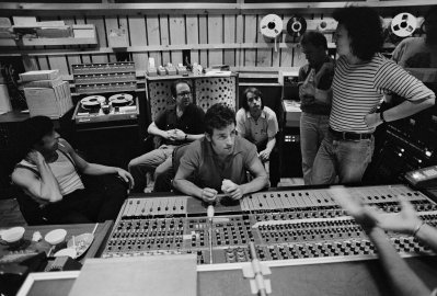 Bruce Springsteen is seen recording The River at the Power Station in New York City, Aug. 1979.
