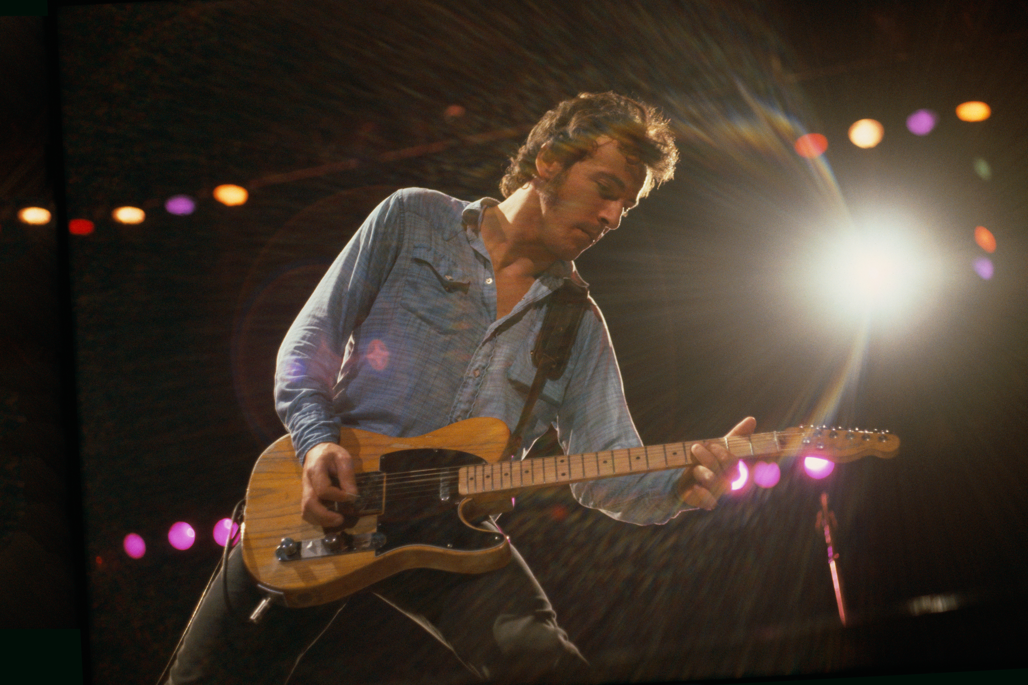 Bruce Springsteen performs at Oakland Coliseum in Oakland, Calif., Oct. 1980.