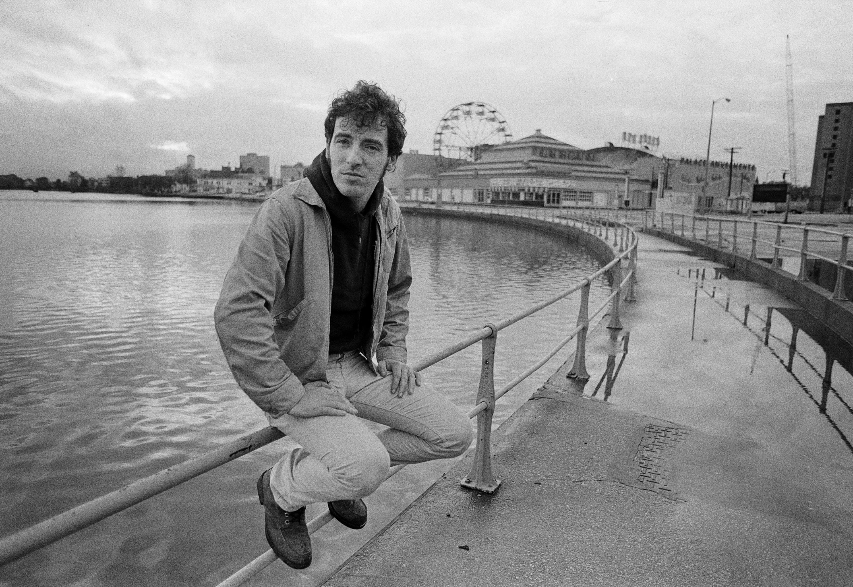 Bruce Springsteen is seen near Wesley Lake in Asbury Park, N.J. in 1979.