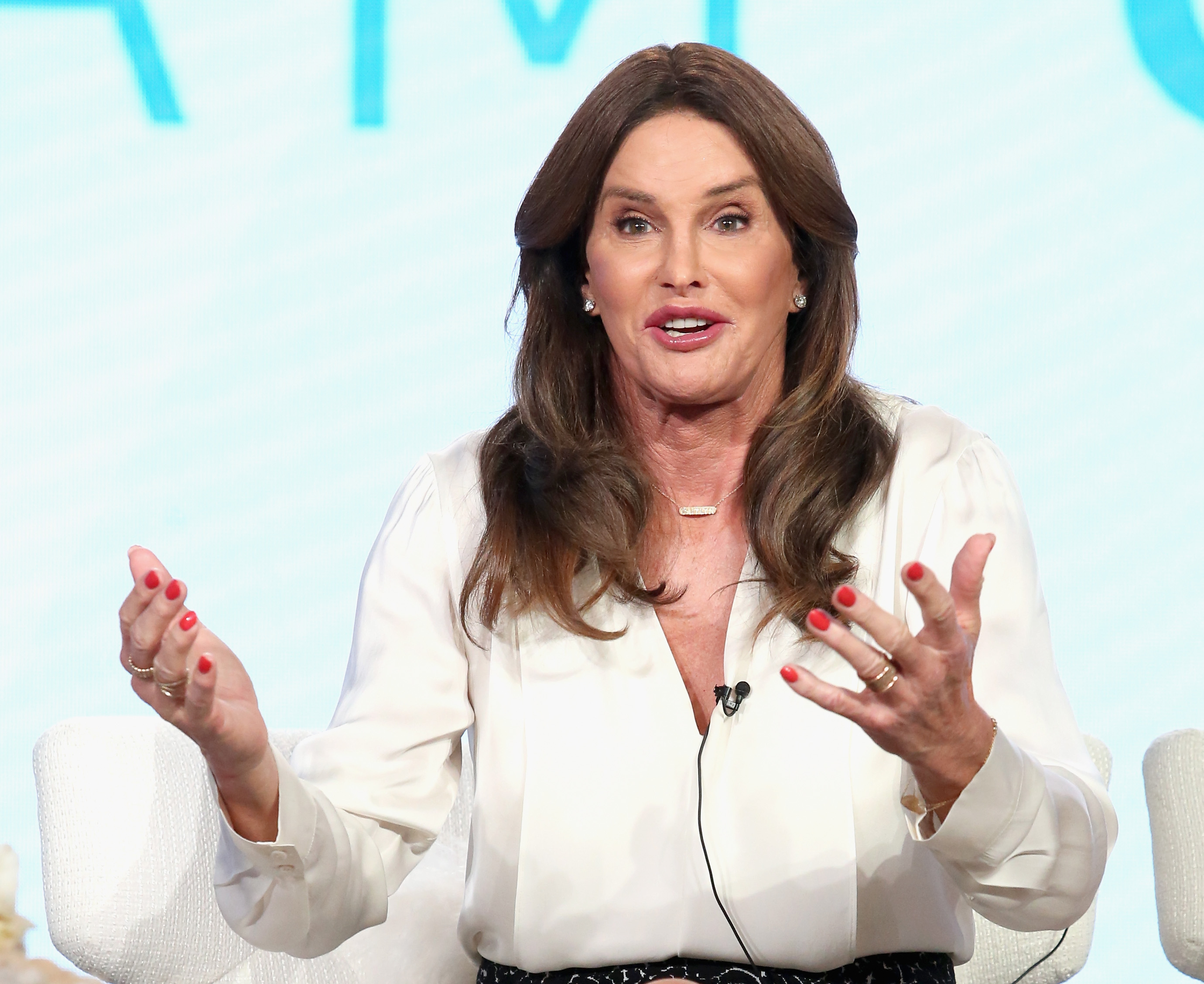 Caitlyn Jenner speaks onstage during the 'I Am Cait' panel discussion at the NBCUniversal portion of the 2016 Winter TCA Tour at Langham Hotel on January 14, 2016 in Pasadena, California.