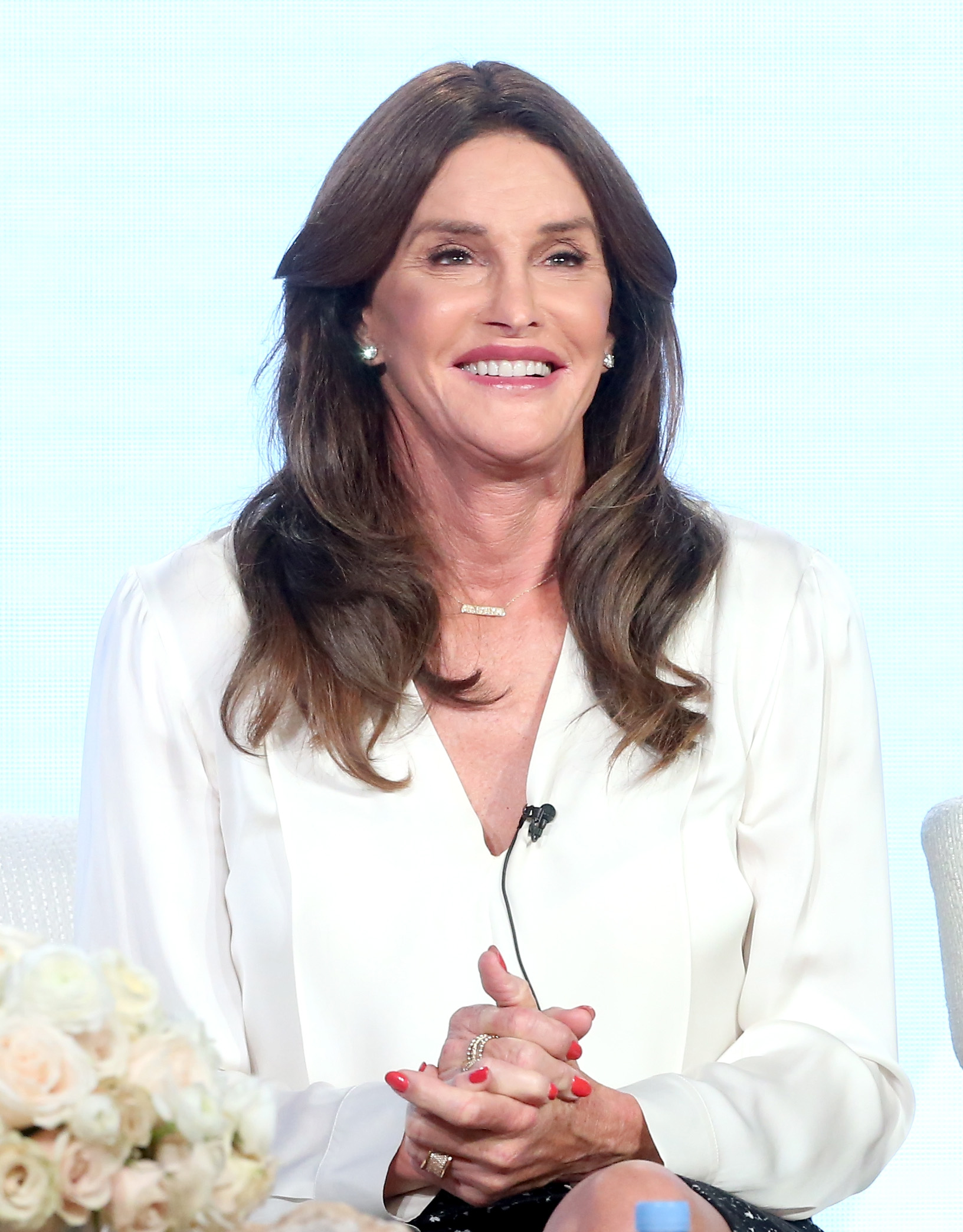 Executive producer/tv personality Caitlyn Jenner speaks onstage during 'I Am Cait' panel discussion on Jan. 14, 2016 in Pasadena, California.