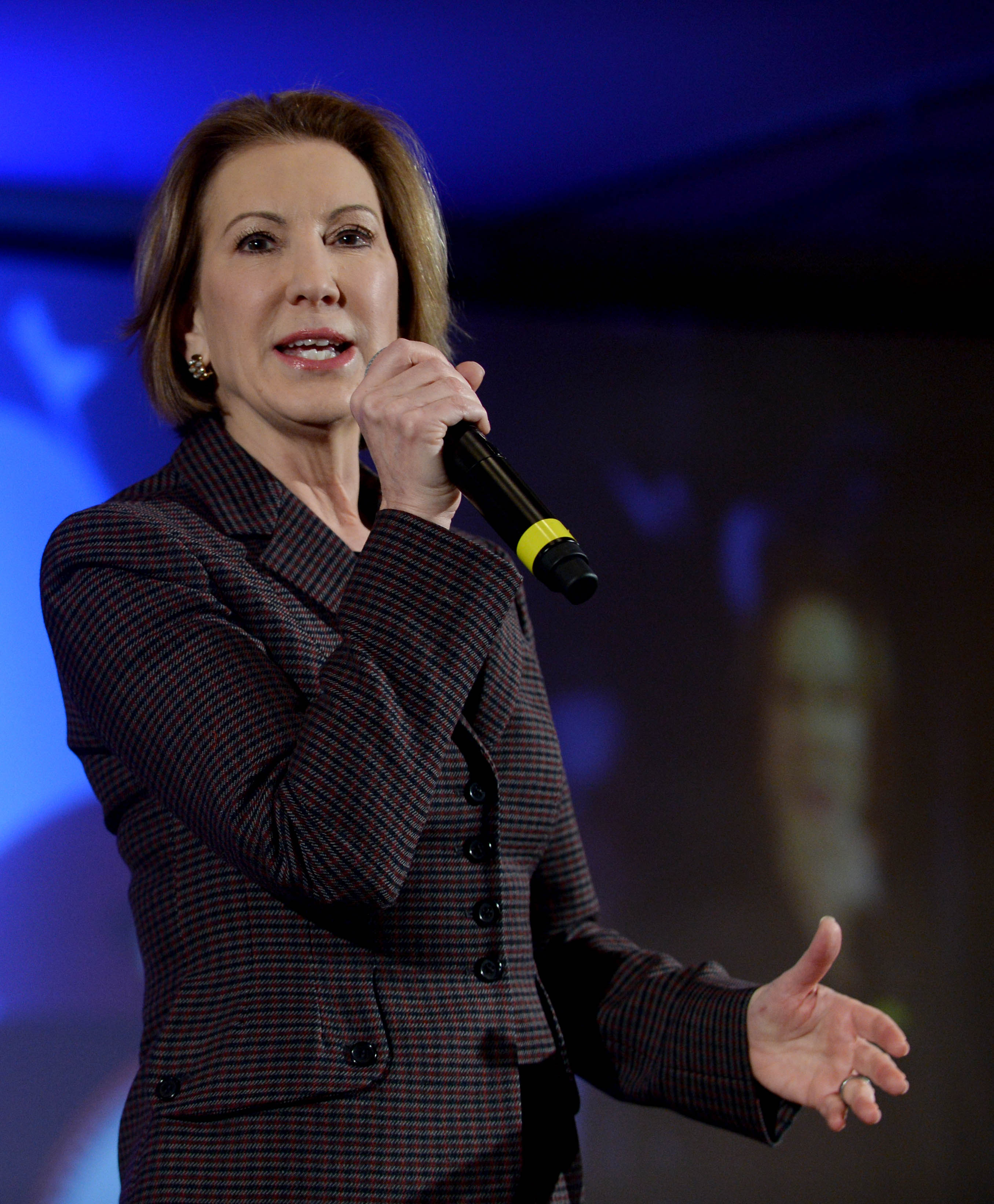 Republican presidential candidate Carly Fiorina speaks at the NHGOP First In The Nation Town Hall in Nashua, N.H., on Jan. 23, 2016.