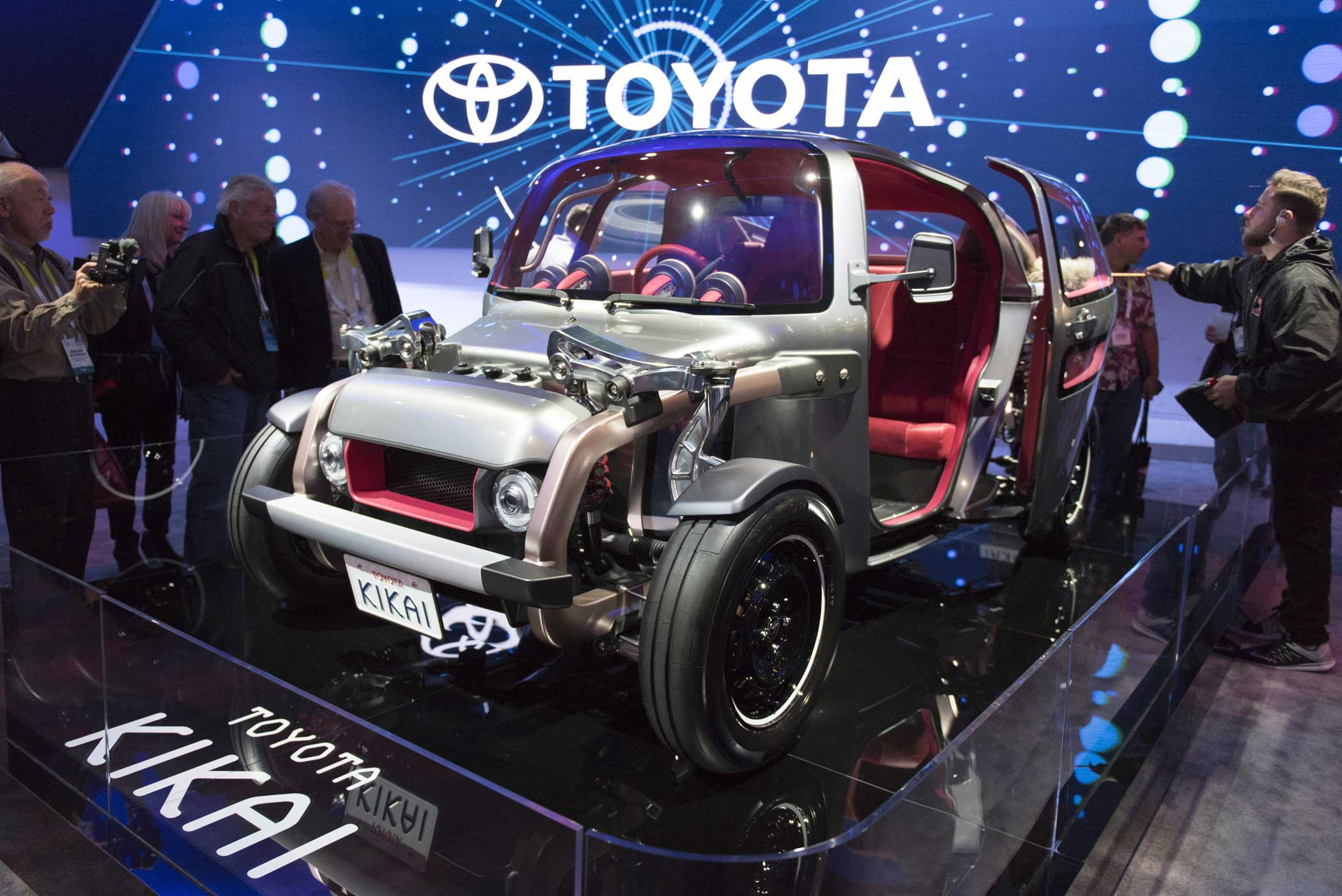 The Toyota Kikai, built inside-out to show off how cars function.