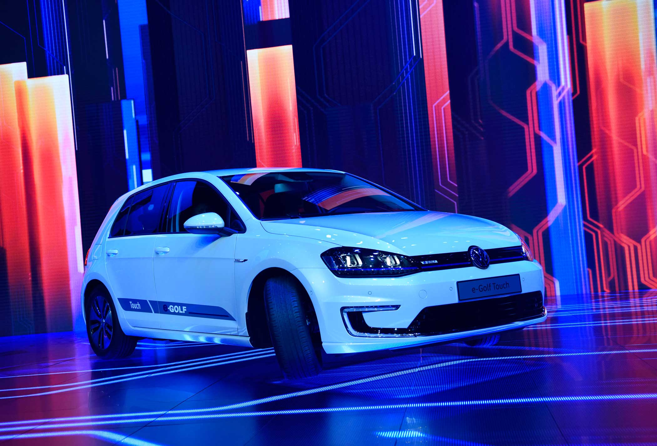 The Volkswagen AG e-Golf Touch electric vehicle .