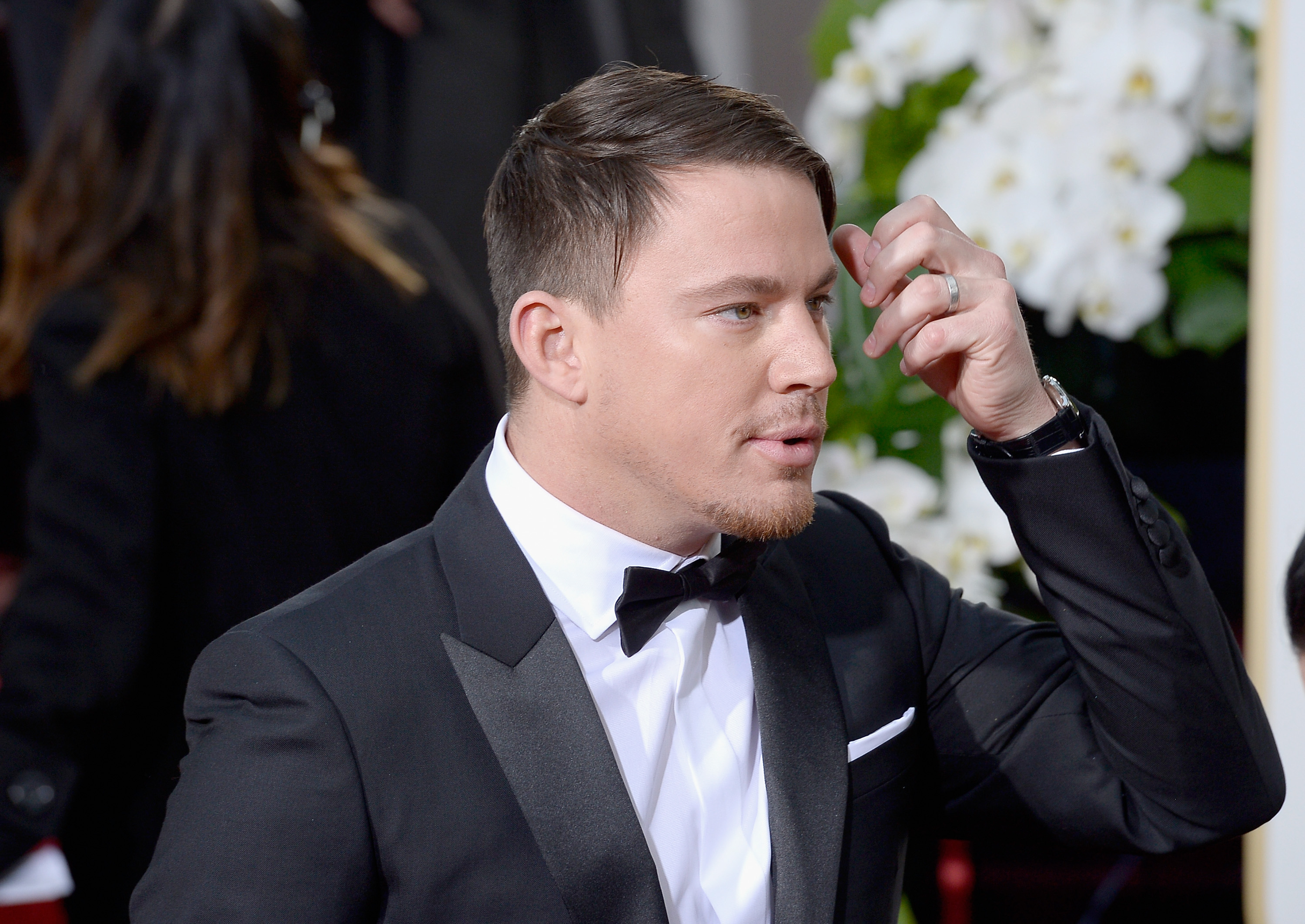 Channing Tatum arrives to the 73rd Annual Golden Globe Awards on Jan. 10, 2016 in Beverly Hills.