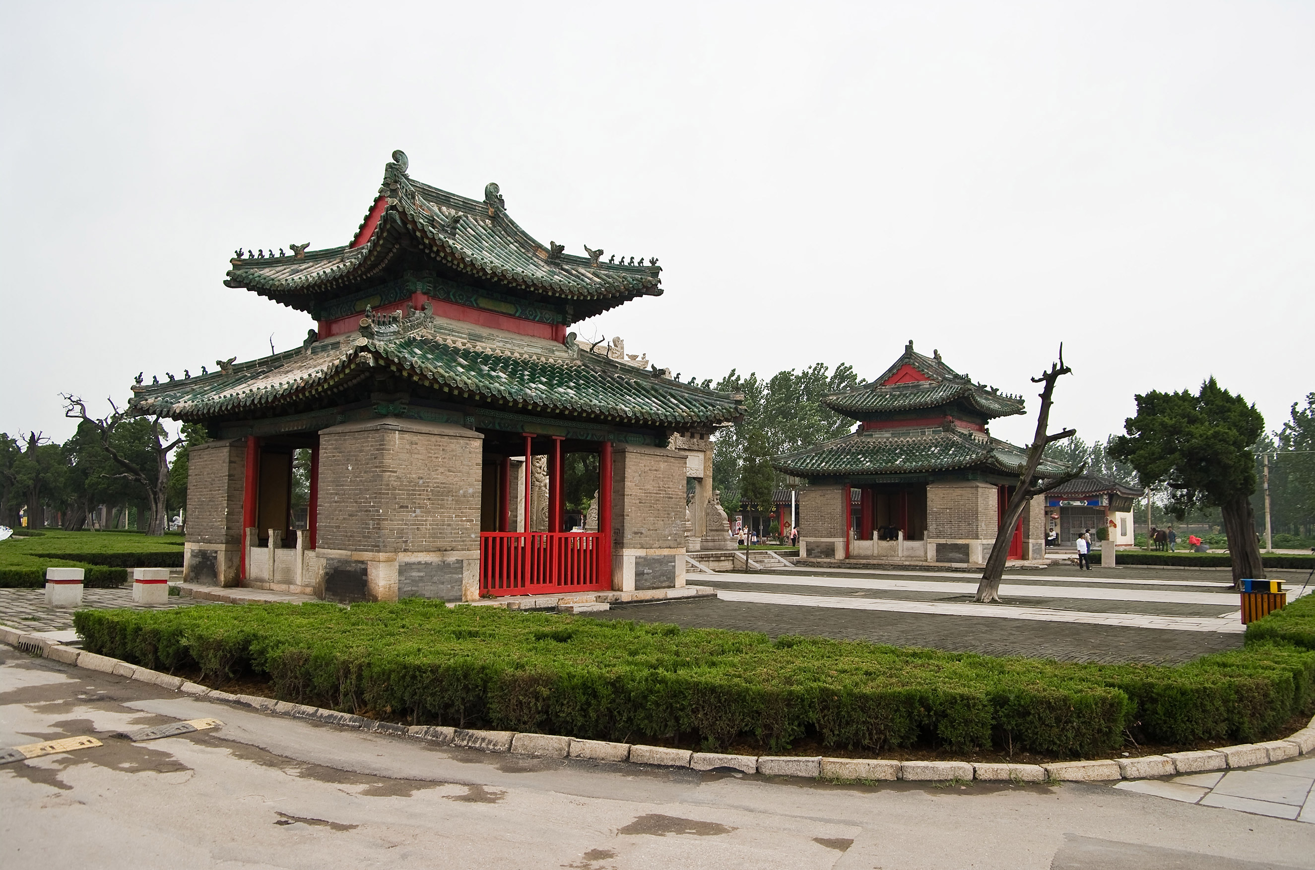A view of memorial buildings at the Cemetery of Confucius in Qufu city, Shandong province, China, on May 22, 2014