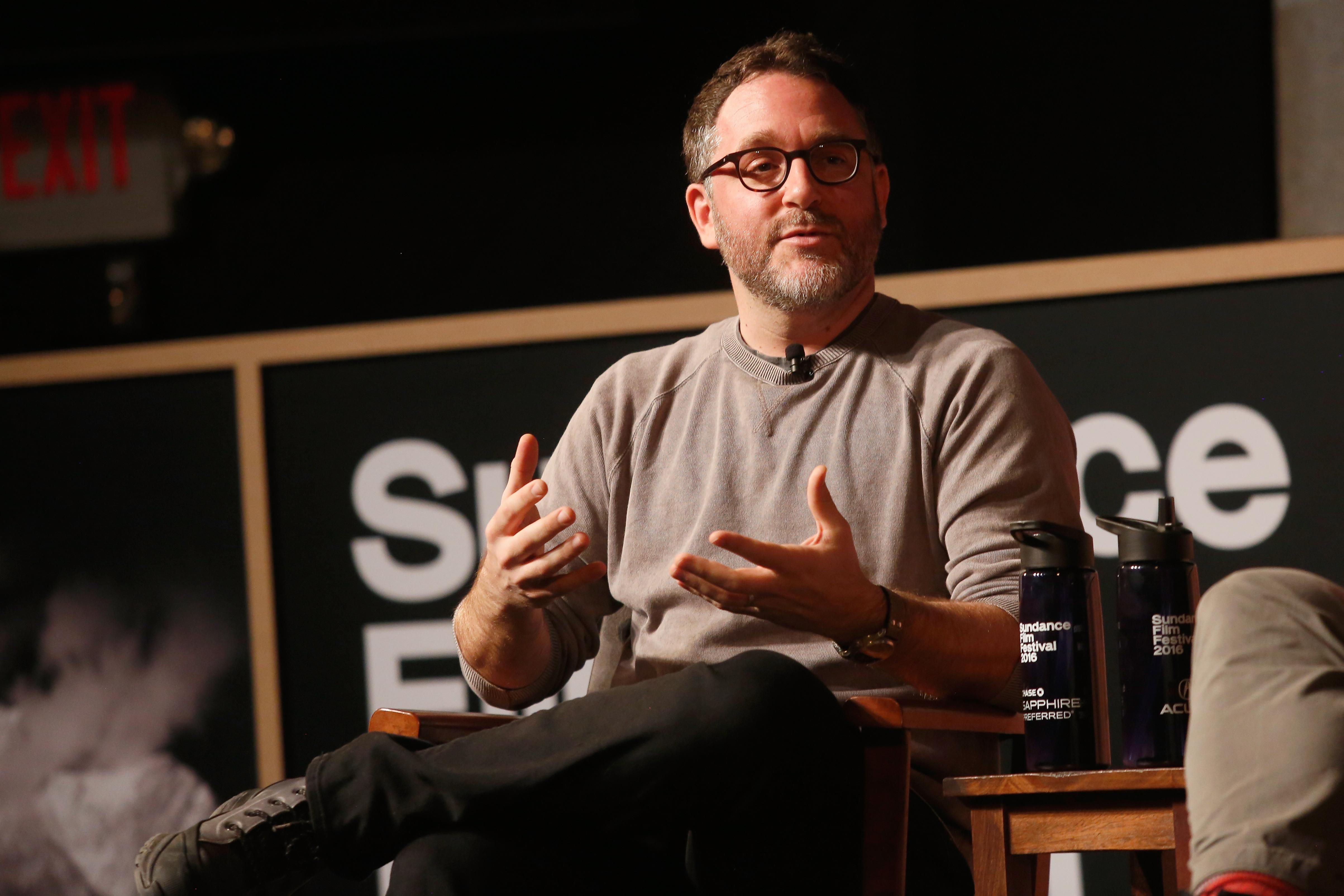 Colin Trevorrow speaks at the Sundance Film Festival on Jan. 28, 2016 in Park City, Utah.