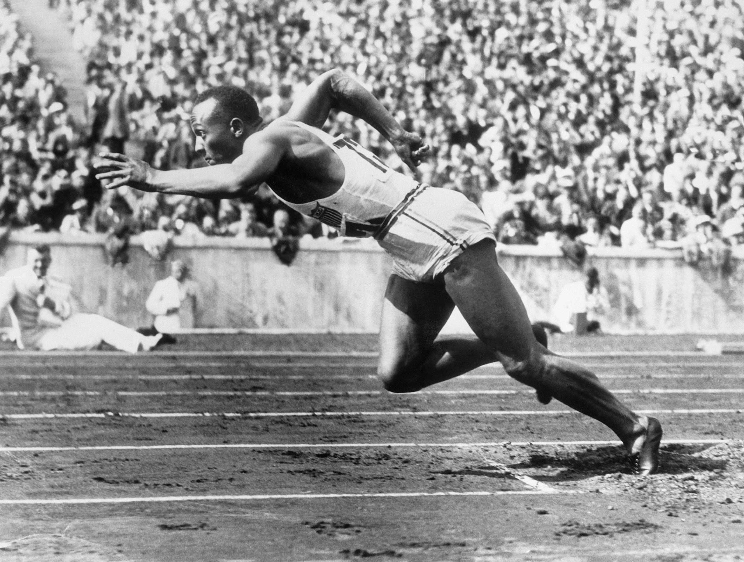 Jesse Owens, runner. Oct. 19, 1937.