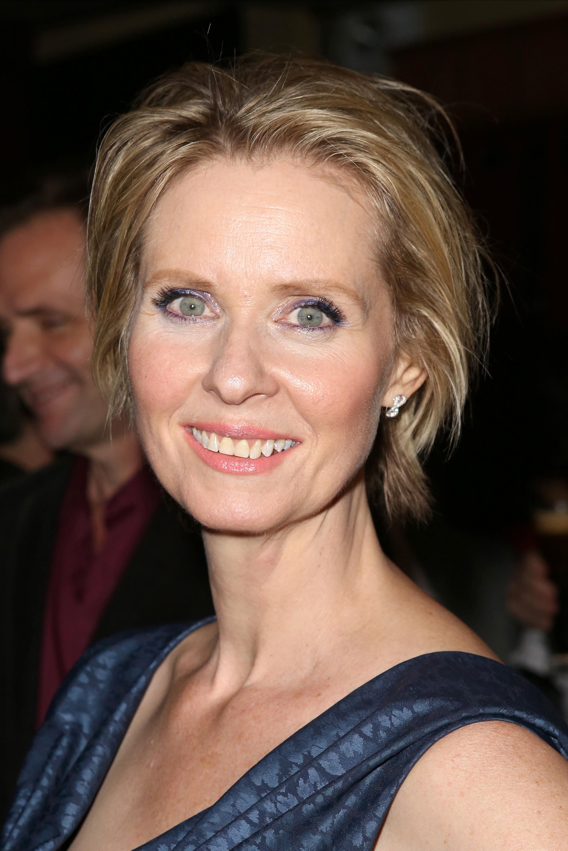 Cynthia Nixon attends the Opening Night Party for the New Group production of 'Steve' at the West Bank Cafe in New York City on Nov. 18, 2015.