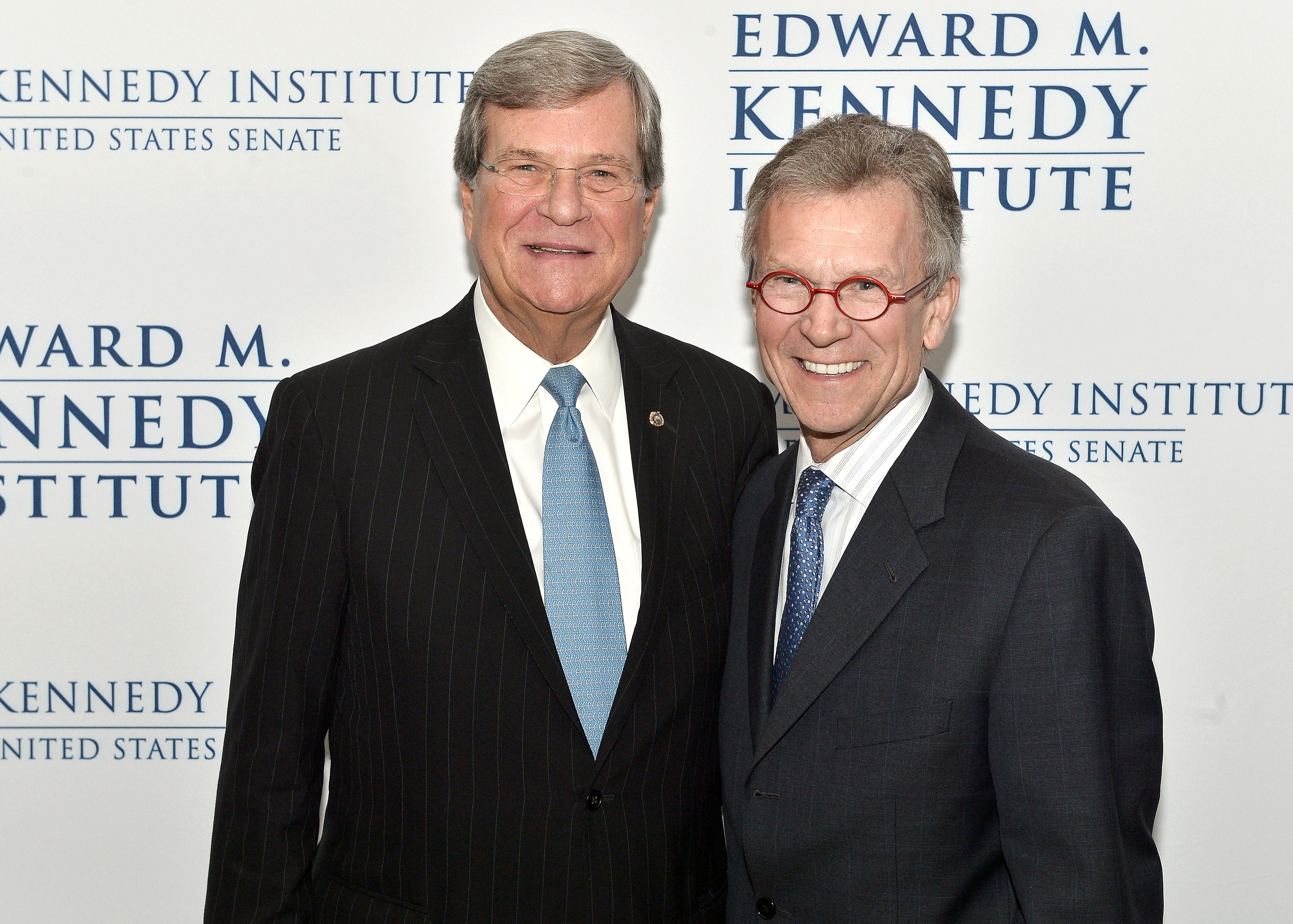 Senators Trent Lott and Tom Daschle attend the Edward M. Kennedy Institute for the U.S. Senate Opening Night Gala and Dedication in Boston on March 29, 2015.